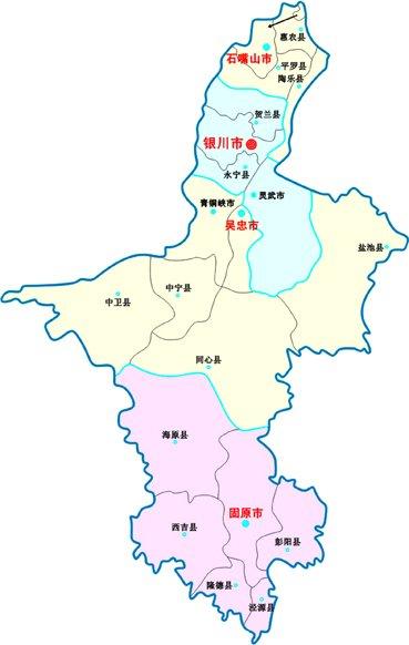 宁夏的面积人口_宁夏人口分布地图